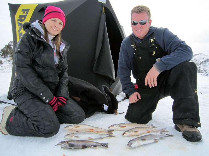 Ice fishing Blue Mesa
