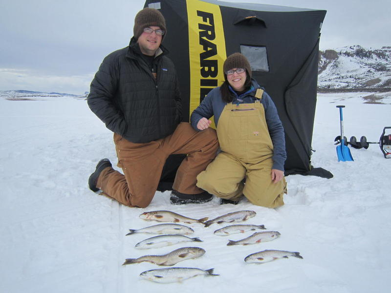 Blue Mesa Lake Ice Fishing!