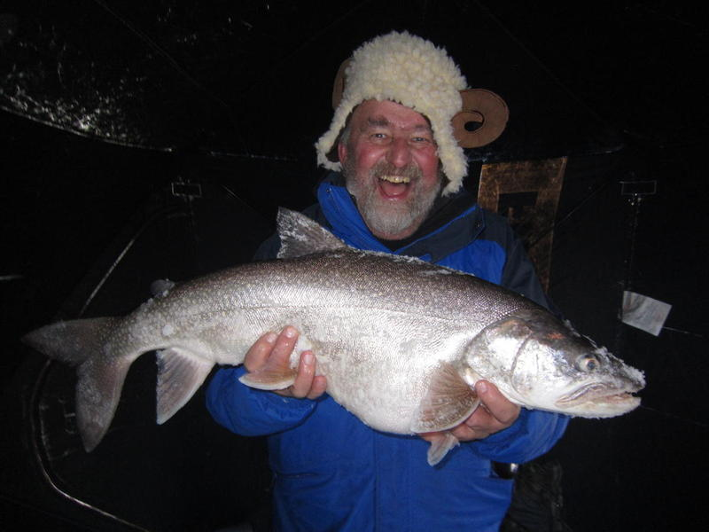 Happy frenchman with a Blue Mesa lake trout 2014!