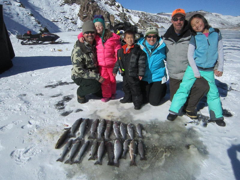 2014 Rainbow trout through the ice on Blue Mesa Reservoir!