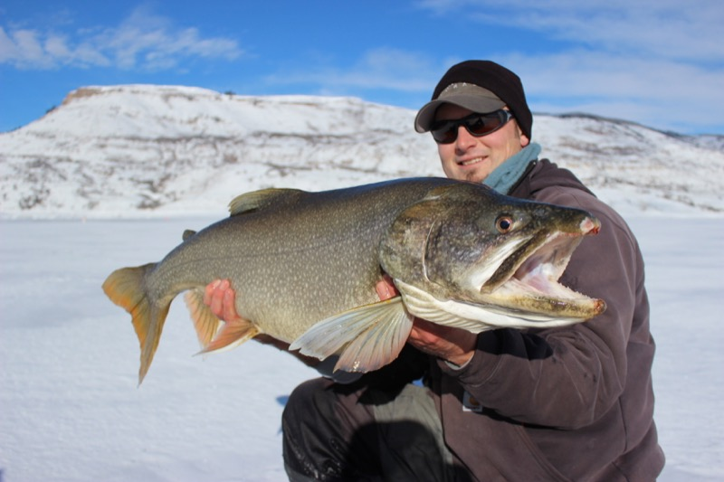 Antero blue mesa reservoir 11 mile colorado ice fishing for Blue mesa reservoir fishing report