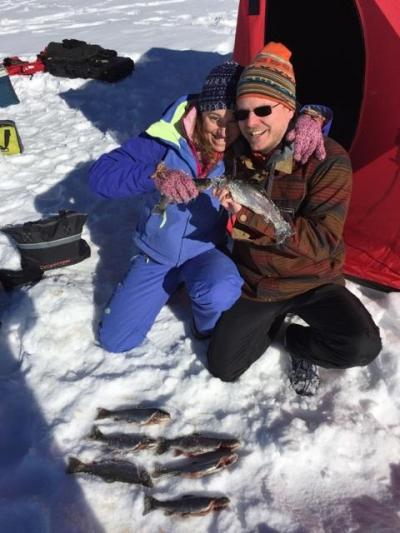 Tarryall ice fishing trips makes for a great first date!