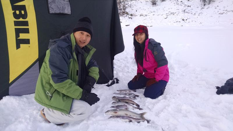 Blue mesa ice fishing trips near gunnison, colorado!