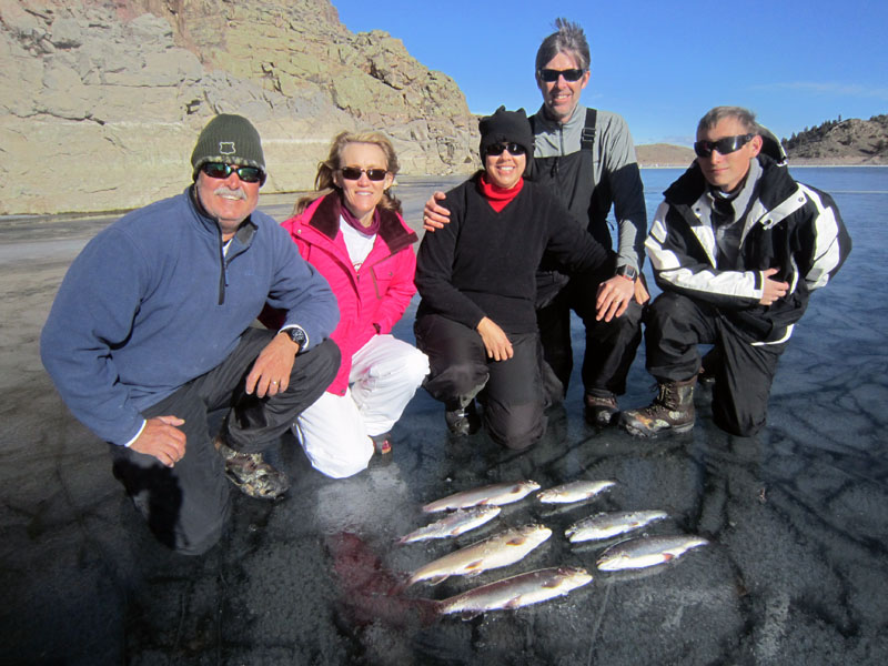 Ice Fishing On Blue Mesa