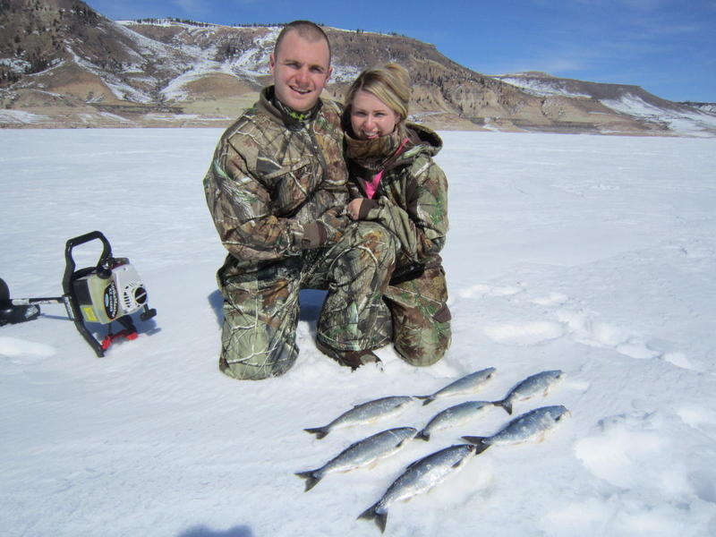 First time ice fishing with Ice Fish Colorado!