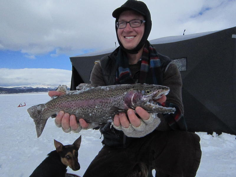 Antero Cutbow through the ice!