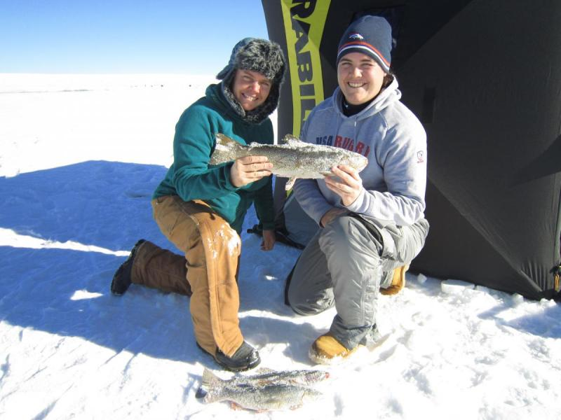 Antero ice fishing catch!