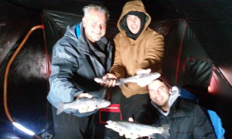 Tarryall reservoir makes for happy ice fishermen