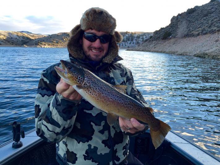 Fishing in december, blue mesa reservoir brown trout!
