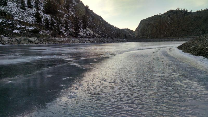 Blue MEsa ice fishing conditions december 2015