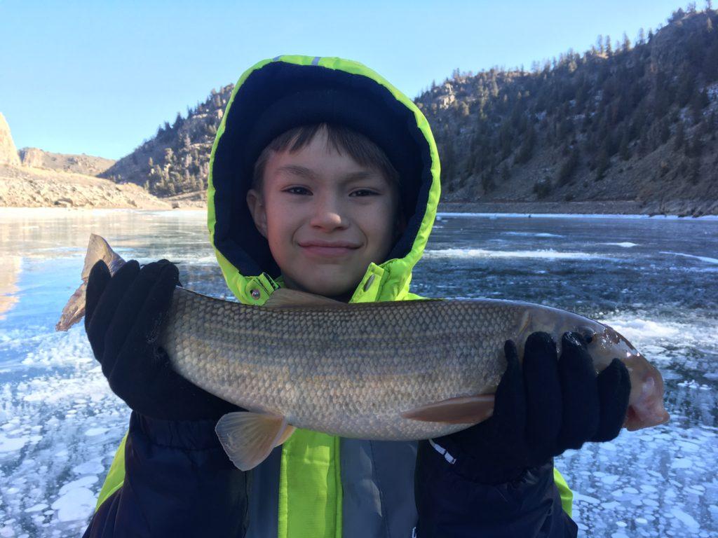 Blue Mesa ice fishing 2017