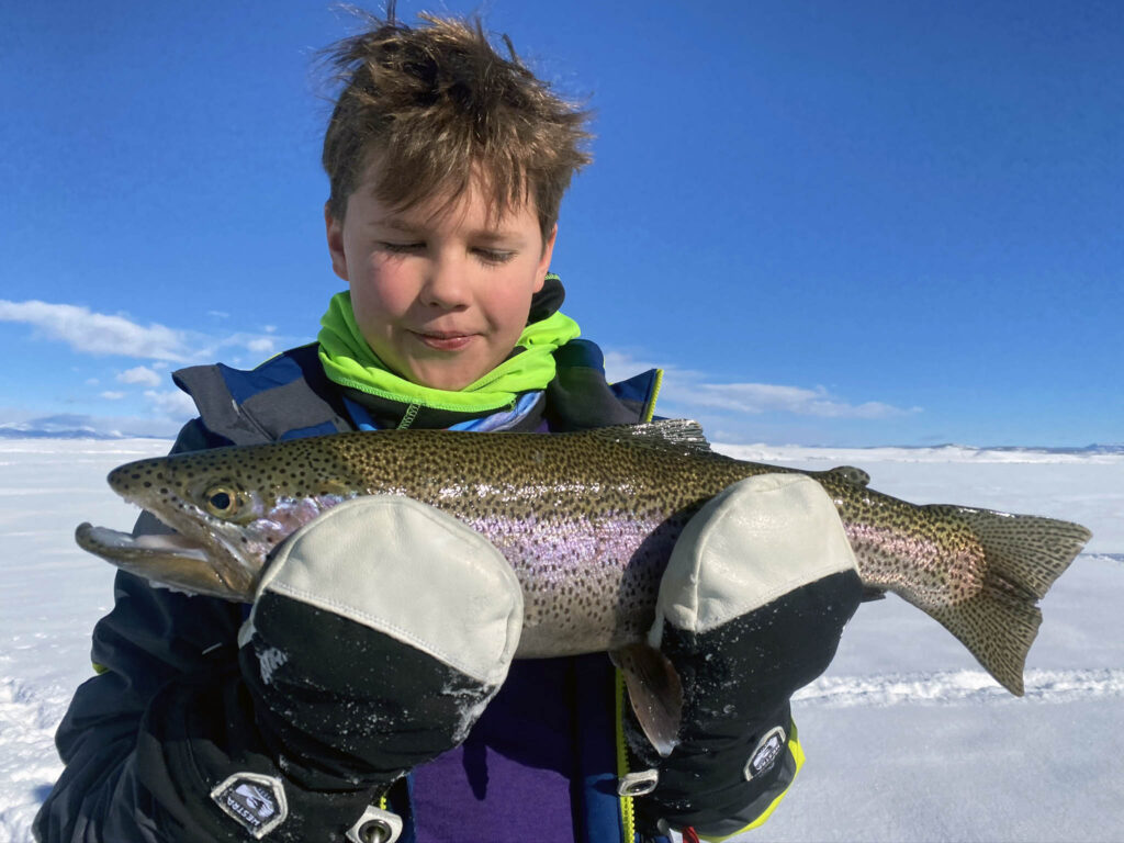 Antero ice fishing trophy trout!